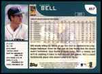 2001 Topps #167  David Bell  Back Thumbnail