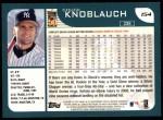 2001 Topps #154  Chuck Knoblauch  Back Thumbnail