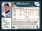 2001 Topps #258  Jason Grimsley  Back Thumbnail