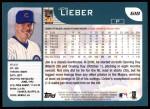 2001 Topps #618  Jon Lieber  Back Thumbnail