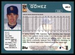 2001 Topps #463  Chris Gomez  Back Thumbnail