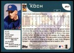 2001 Topps #217  Billy Koch  Back Thumbnail