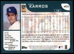 2001 Topps #455  Eric Karros  Back Thumbnail