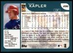 2001 Topps #286  Gabe Kapler  Back Thumbnail