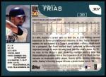 2001 Topps #307  Hanley Frias  Back Thumbnail