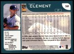 2001 Topps #58  Matt Clement  Back Thumbnail