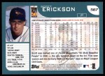 2001 Topps #567  Scott Erickson  Back Thumbnail
