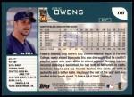 2001 Topps #116  Eric Owens  Back Thumbnail