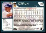 2001 Topps #140  Johnny Damon  Back Thumbnail