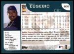 2001 Topps #605  Tony Eusebio  Back Thumbnail