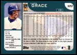 2001 Topps #320  Mark Grace  Back Thumbnail