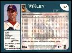 2001 Topps #47  Chuck Finley  Back Thumbnail