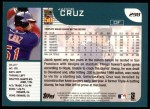 2001 Topps #298  Jacob Cruz  Back Thumbnail