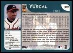 2001 Topps #319  Rafael Furcal  Back Thumbnail