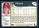 2001 Topps #252  Dave Veres  Back Thumbnail