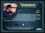 2001 Topps #325  Mike Hargrove  Back Thumbnail