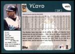 2001 Topps #495  Cliff Floyd  Back Thumbnail