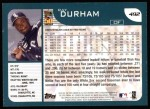 2001 Topps #492  Ray Durham  Back Thumbnail