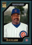 2001 Topps #330  Don Baylor  Front Thumbnail