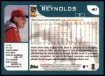 2001 Topps #40  Shane Reynolds  Back Thumbnail