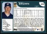2001 Topps #408  Brant Brown  Back Thumbnail