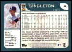 2001 Topps #11  Chris Singleton  Back Thumbnail