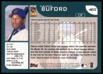 2001 Topps #465  Damon Buford  Back Thumbnail