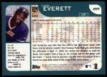 2001 Topps #221  Carl Everett  Back Thumbnail