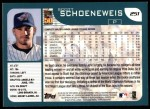 2001 Topps #251  Scott Schoeneweis  Back Thumbnail