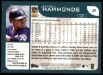 2001 Topps #31  Jeffrey Hammonds  Back Thumbnail