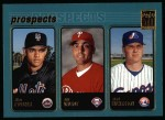2001 Topps #733  Alex Escobar / Eric Valent / Brad Wilkerson  Front Thumbnail