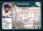 2001 Topps #281  Joe McEwing  Back Thumbnail