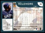 2001 Topps #86  Mark McLemore  Back Thumbnail