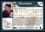 2001 Topps #264  Mark Johnson  Back Thumbnail