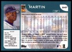 2001 Topps #647  Al Martin  Back Thumbnail