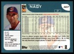 2001 Topps #607  Charles Nagy  Back Thumbnail