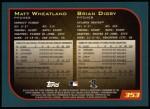 2001 Topps #353  Matt Wheatland / Brian Digby  Back Thumbnail