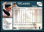 2001 Topps #270  Randy Velarde  Back Thumbnail