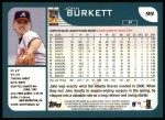 2001 Topps #99  John Burkett  Back Thumbnail