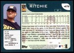 2001 Topps #479  Todd Ritchie  Back Thumbnail