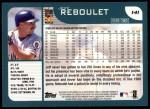 2001 Topps #141  Jeff Reboulet  Back Thumbnail