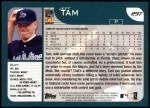 2001 Topps #297  Jeff Tam  Back Thumbnail