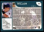 2001 Topps #317  Damian Miller  Back Thumbnail
