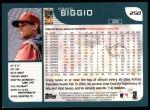2001 Topps #250  Craig Biggio  Back Thumbnail