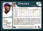 2001 Topps #229  Jose Jimenez  Back Thumbnail