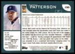 2001 Topps #196  Danny Patterson  Back Thumbnail