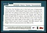 2001 Topps #771   New York Yankees Team Back Thumbnail