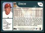 2001 Topps #101  J.D. Drew  Back Thumbnail