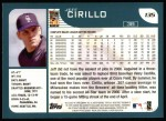 2001 Topps #135  Jeff Cirillo  Back Thumbnail