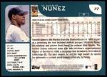 2001 Topps #77  Vladimir Nunez  Back Thumbnail